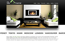 CMS Web Design for Eco-friendly Fireplace Company