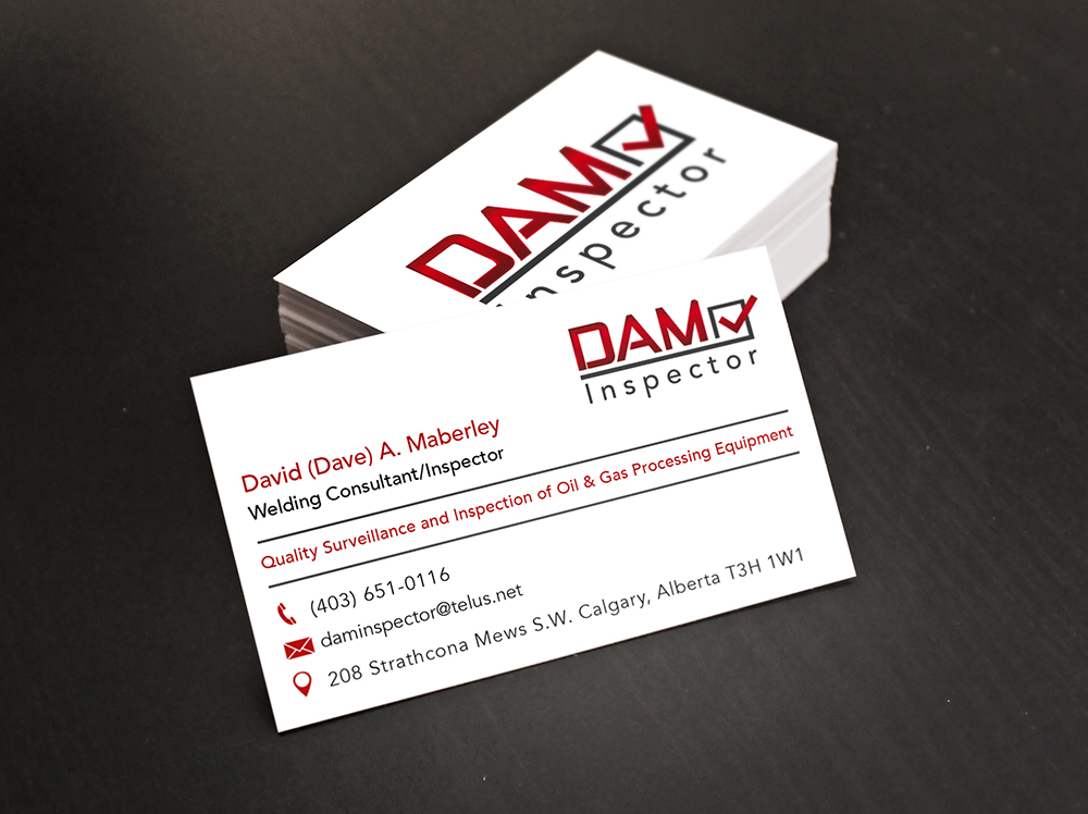 Business Card Design for a Calgary Oil & Gas Inspection